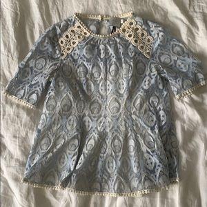 Lace crochet peplum top